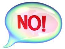βράστε καμία ομιλία σημαδ&io ελεύθερη απεικόνιση δικαιώματος