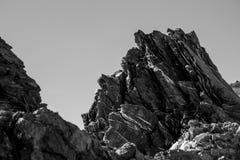 βράχοι αιχμηροί Στοκ Φωτογραφίες
