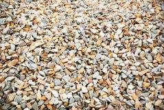 Βράχοι αμμοχάλικου κινηματογραφήσεων σε πρώτο πλάνο Στοκ Φωτογραφία