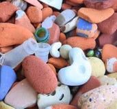 Βράχοι & γυαλί παραλιών Στοκ φωτογραφία με δικαίωμα ελεύθερης χρήσης
