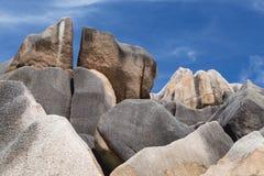 Βράχοι επιχορήγησης, Λα Digue, Σεϋχέλλες Στοκ Εικόνες