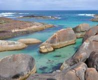 Βράχοι ελεφάντων: Τυρκουάζ μεγάλος νότιος ωκεανός Στοκ φωτογραφία με δικαίωμα ελεύθερης χρήσης