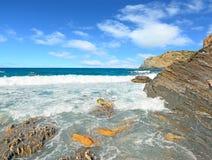 Βράχοι και κύματα Στοκ Εικόνες