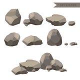 Βράχοι και πέτρες Βράχοι και πέτρες ενιαίοι ή που συσσωρεύονται για τη ζημία και τα ερείπια για το σχέδιο αρχιτεκτονικής τέχνης π ελεύθερη απεικόνιση δικαιώματος