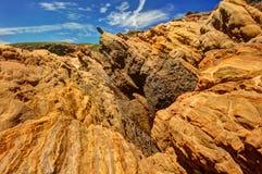 Βράχοι και πέτρες στην ακτή Pacific Coast Στοκ Φωτογραφίες