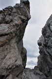 Βράχοι και σύννεφα Στοκ Εικόνα