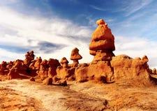 Βράχοι κοιλάδων Goblin, κρατικό πάρκο Γιούτα Στοκ φωτογραφία με δικαίωμα ελεύθερης χρήσης