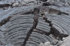 Βράχοι λάβας δίπλα στο ηφαίστειο στοκ εικόνες