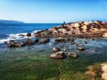 Βράχοι μανιταριών σε Yehliu Geopark, βόρεια Ταϊβάν στοκ εικόνα με δικαίωμα ελεύθερης χρήσης