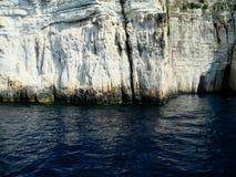 Βράχοι νησιών Paxos, Ελλάδα Στοκ Εικόνες