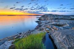 Βράχοι νύχτας Στοκ φωτογραφία με δικαίωμα ελεύθερης χρήσης
