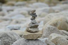 Βράχοι παραλιών στη Βρετάνη Γαλλία στοκ εικόνες