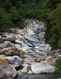Βράχοι ποταμών φαραγγιών Taroko Στοκ Φωτογραφίες