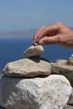 βράχοι που συσσωρεύοντ&alp Στοκ εικόνα με δικαίωμα ελεύθερης χρήσης