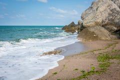 Βράχοι σε Μαύρη Θάλασσα, Τουρκία στοκ εικόνα με δικαίωμα ελεύθερης χρήσης