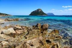 Βράχοι σε Golfo Aranci στη Σαρδηνία, Ιταλία Στοκ Εικόνα