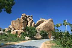 Βράχοι σε Hampi στοκ φωτογραφίες