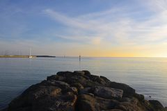 Βράχοι σε Hampton Στοκ φωτογραφία με δικαίωμα ελεύθερης χρήσης