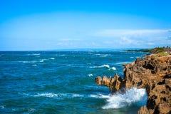 Βράχοι σε Malecon Puerto Plata Στοκ φωτογραφίες με δικαίωμα ελεύθερης χρήσης