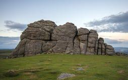Βράχοι σκαπανών σανού σε Dartmoor στο Devon, Αγγλία Στοκ φωτογραφία με δικαίωμα ελεύθερης χρήσης