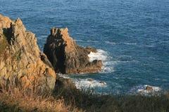 Βράχοι στην ακτή Στοκ Εικόνα