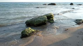 Βράχοι στην ακτή απόθεμα βίντεο