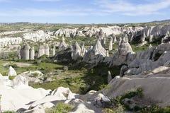 Βράχοι στην κοιλάδα της αγάπης cappadocia Τουρκία Στοκ Εικόνες