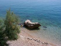Βράχοι στην κροατική παραλία Στοκ Εικόνες