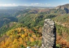 Βράχοι στην τσεχική Ελβετία στοκ φωτογραφίες