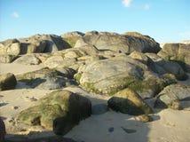Βράχοι στη Βίλα Νόβα ντε Γκάια, Πορτογαλία Στοκ φωτογραφία με δικαίωμα ελεύθερης χρήσης