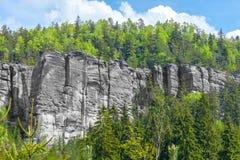 Βράχοι στο εθνικό πάρκο των βράχων adrspach-Teplice - Δημοκρατία της Τσεχίας Στοκ Εικόνα