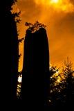 Βράχοι στο εθνικό πάρκο των βράχων adrspach-Teplice - Δημοκρατία της Τσεχίας, ουρανός ηλιοβασιλέματος Στοκ φωτογραφία με δικαίωμα ελεύθερης χρήσης