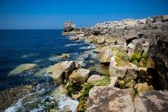 Βράχοι στο Πόρτλαντ Μπιλ, Πόρτλαντ, Αγγλία Στοκ Εικόνες