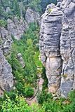 Βράχοι στο Cesky Raj Στοκ εικόνα με δικαίωμα ελεύθερης χρήσης