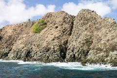 Βράχοι στο Fernando de Noronha Island Στοκ εικόνα με δικαίωμα ελεύθερης χρήσης