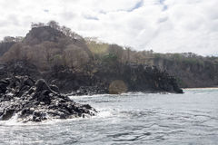 Βράχοι στο Fernando de Noronha Island Στοκ Εικόνα