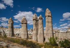 Βράχοι της κοιλάδας αγάπης σε Cappadocia Στοκ Εικόνες