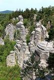 Βράχοι ψαμμίτη στον τσεχικό παράδεισο Στοκ Φωτογραφία