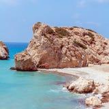 Βράχοι Aphrodite, Paphos, Κύπρος Στοκ εικόνα με δικαίωμα ελεύθερης χρήσης