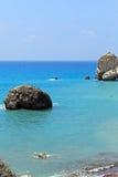 Βράχοι Aphrodite, Paphos, Κύπρος Στοκ εικόνες με δικαίωμα ελεύθερης χρήσης