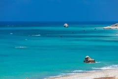Βράχοι Aphrodite, Paphos, Κύπρος Στοκ φωτογραφίες με δικαίωμα ελεύθερης χρήσης
