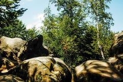 Βράχοι Dovbush σε Bubnyshche Στοκ φωτογραφία με δικαίωμα ελεύθερης χρήσης