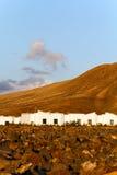 βράχοι Lanzarote Μοντάνα baja Στοκ φωτογραφία με δικαίωμα ελεύθερης χρήσης
