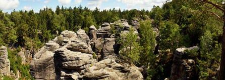 Βράχοι Prachov πόλεων βράχου Στοκ φωτογραφία με δικαίωμα ελεύθερης χρήσης