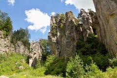 Βράχοι Prachov πόλεων βράχου Στοκ Φωτογραφία