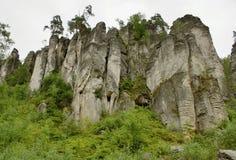 Βράχοι Prachov πόλεων βράχου Στοκ εικόνες με δικαίωμα ελεύθερης χρήσης