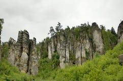 Βράχοι Prachov πόλεων βράχου Στοκ Εικόνες