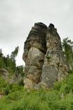 Βράχοι Prachov πόλεων βράχου Στοκ φωτογραφίες με δικαίωμα ελεύθερης χρήσης