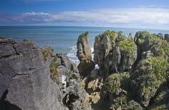 βράχοι punakaiki τηγανιτών στοκ φωτογραφία