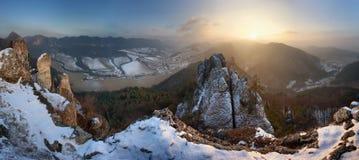 Βράχοι Sulov στο χειμώνα Στοκ Φωτογραφία